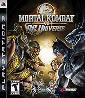 Mortal Kombat vs. DC Universe (Sony PlayStation 3, 2008) Disc Only Fast Ship PS3