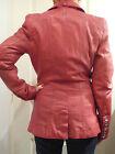 Veste cintrée en cuir rouge OAKWOOD t. S - Red fitted leather jacket - val. 379€