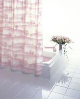 RIDDER Duschvorhang Bilbao rosa Kunstoff PVC-frei 120 x 200 cm inkl. Ringe