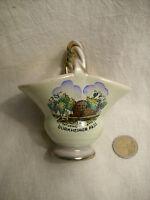 Vase Dürkheim 50er Jahre Porzellan Keramik Souvenir Körbchen