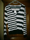 PULL NOIR / BLANC NEUF ETIQUETTES MARQUE 1 2 3 MANCHES LONGUES TAILLE 46/48