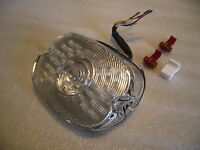 LED rear light low profile with integral indicators clear lens Harley Davidson