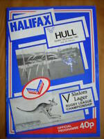 Halifax v Hull programme 13.10.85