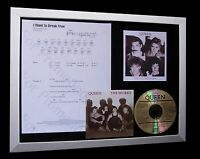 QUEEN I Want To Break Free LTD CD MUSIC FRAMED DISPLAY+EXPRESS GLOBAL SHIPPING