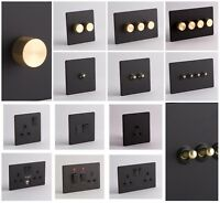 DESIGNER SOCKETS AND SWITCHES - Black and Gold