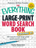 EVERYTHING LARGE-PRINT WORD SEARCH BOOK, VOLUME VI ' Timmerman, Charles