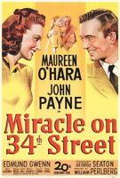 68472 Miracle on 34th Street Maureen O Hara John Payne Wall Print Poster Affiche