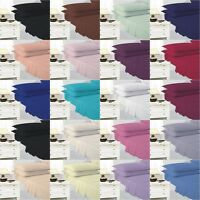 4 Foot Small Double Plain Dyed Fitted Bed Sheet Poly Cotton  20 Colors Available