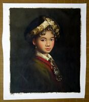 "Chinese oil painting girl lady canvas 20x24"" beauty contemporary Asia repro art"