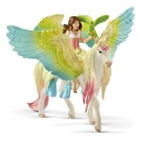 Schleich Bayala Surah mit Glitzer-Pegasus Pegasus Pferd Elfe Spielfigur Figur