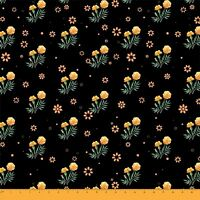 Soimoi Fabric Marigold Floral Printed Craft Fabric by the Yard -FL-673A