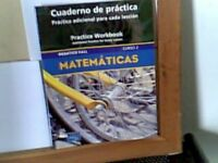 PRENTICE HALL MIDDLE GRADES MATH COURSE 2 SPANISH PRACTICE *Excellent Condition*