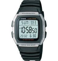 Casio Men's Quartz Illuminator 10-yr Battery Digital Black 36mm Watch W96H-1AV