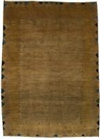 Solid Modern Design Handmade Plush 4X6 Gabbeh Persian Rug Oriental Area Carpet