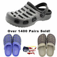 Mens Clogs Slip On Shoes Garden Water Sandal Slipper Mules Rubber Plastic Foam