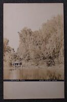 RPPC 1907 Real Photo Nelighs Pond West Point NE Cuming