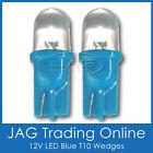 PAIR 12V T10 BLUE LED WEDGE DOME GLOBES - Auto/Caravan/RV/Car/Truck HID LOOK