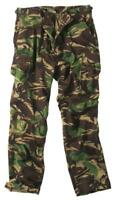 New Mens Army Style BDU Combat Cargo Pants Trousers BRITISH WOODLAND CAMO  -