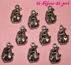 LOT de 10 PENDENTIFS perles breloques SOURIS MOUSE création bijoux