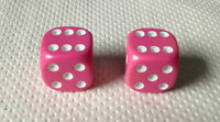 Pair Of PINK Dice Dust Valve Caps Bike Bmx  Cycle Xmas