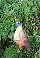 Quail Christmas String Ornament Regal Art