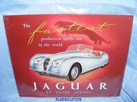 Metal Advertising Car Garage Sign Jaguar XK Super Sport