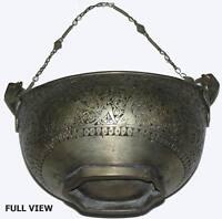 Islamic Muslim  Antique Kashkul Kashkool Begging Bowl Sufi Dervash Qalander