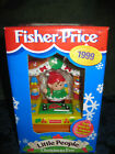 Fisher Price Little People Christmas Eve 1999 Set NEW Elf Girl Santa workshop