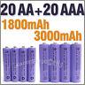 20 AAA 20 AA 1800 3000 mAh rechargeable battery Purple