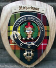 Scottish Gifts: Richardson Family Clan Crest Wall Plaque