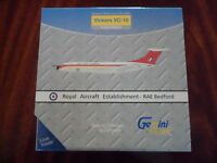 RAF Royal Air Force VC10 Royal Aircraft Estab Diecast Model Gemini VC-10 1:400