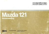 1990 MAZDA 121 BETRIEBSANLEITUNG HANDBUCH BORDBUCH OWNER'S MANUAL DEUTSCH