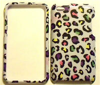 White Leopard Apple ipod iTouch Touch 4G 4 Protector Faceplate Case Cover Snap