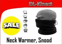 MENS BLACK FLEECE NECK WARMER SKI SCARF SNOOD FOOTBALL SNOWBOARD