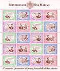 San Marino 1997 Anniversario primo francobollo minifoglio, nuovo, perfetto