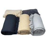 100% Cotton Handmade SOFA / BED THROW in 3 Colours & 5 Sizes + Giant Jumbo Size