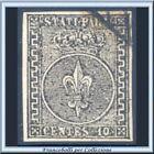 ASI 1852 Parma cent. 10 nero su bianco n. 2 Usato Antichi Stati Italiani