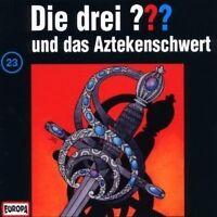 """DIE DREI ??? """"UND DAS AZTEKENSCHWERT (FOLGE 23)"""" CD HÖRBUCH NEW"""