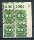 STAMP / TIMBRE ALLEMAGNE GERMANY DEUTFCHES REICH BLOC DE 4 N° 245 **