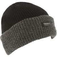 Thermal Thinsulate Fleece Lined Black Grey Winter Work Beanie Ski Hat Cap Unisex
