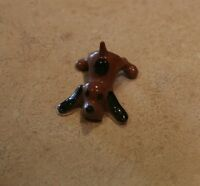 Hagen Renaker Playful Brown Puppy with Black Spot on Back Figurine