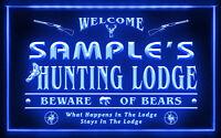 QL-TM B Name Personalized Custom Hunting Lodge Firearms Man Cave Bar Neon Sign