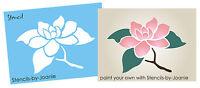 Magnolia STENCIL Flower Twig Branch Floral Cottage Garden Shabby Art Border Sign
