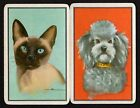 Vintage Swap/Playing Cards - Siamese Cat & Poodle Pair