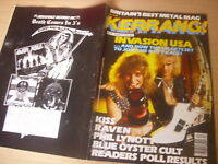 KERRANG  Great Classic Rock / Heavy Metal magazine IRON MAIDEN  CENTRE pic  #112