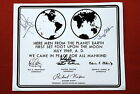 APOLLO 11 ORIGINAL SIGNED MESSAGE ON THE MOON  NEIL ARMSTRONG ALDRIN COLLINS