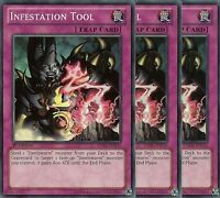 3 X YU-GI-OH: INFESTATION TOOL - SUPER RARE - HA06-EN030 - 1st EDITION