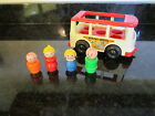Fisher Price Little People Play Family Mini Bus 4 Figures Mom Dad boy Girl 141 A