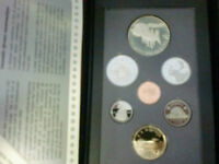 1992 Canada PROOF SET - 7 COIN SET Double Dollar Set  Silver STAGECOACH RARE