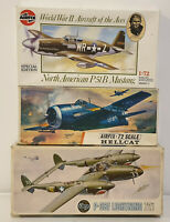 AVIATION : P-38F LIGHTNING 1:72 SCALE AIRFIX MODEL KIT